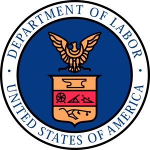 U.S. Department of Labor logo, courtesy of their website