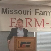 Reic Greitens speaks to Missouri Farm Bureau members