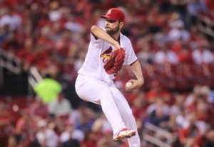 St. Louis Cardinals starting pitcher Jaime Garcia delivers a pitch to the MIlwaukee Brewers in the second inning at Busch Stadium in St. Louis on September 8, 2016. Photo by Bill Greenblatt/UPI