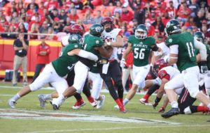 Northwest Missouri State battled Central Missouri at Arrowhead Stadium.  A game between two nationally ranked teams (photo/Bearcats Athletics)