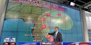 Shepard Smith of Fox News told everyone in Florida to leave so he wouldn't miss a family wedding.