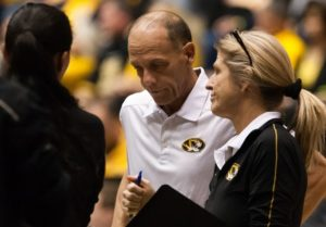 Wayne Kreklow discusses strategy during the Tigers last NCAA appearance in 2013 (file photo/Mizzou Athletics)