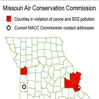 MAP Air violations & Air Commissioners - Image courtesy of Missouri Sierra Club