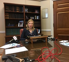 Missouri State Auditor Nicole Galloway addresses press over lack of compliance to the Sunshine Law