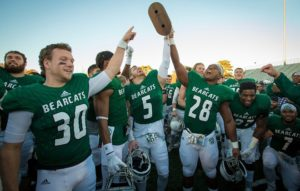 Northwest Missouri State celebrates their MIAA championship (photo/bearcatsports.com)
