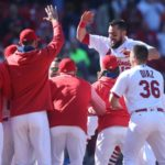Cardinals score in eight of nine innings over stretch of DH to sweep Blue Jays