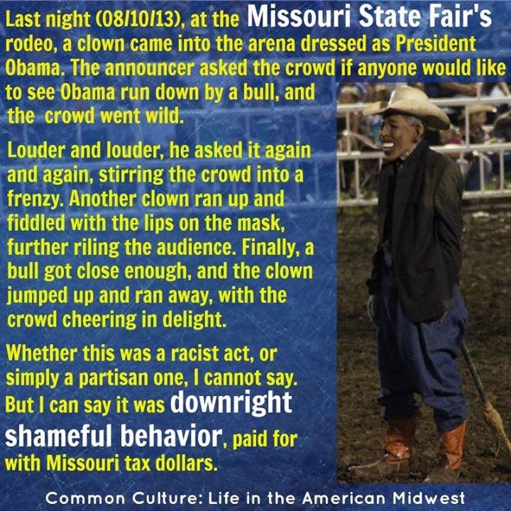 Obama Rodeo Clown At State Fair Chased Down By Bull Bi