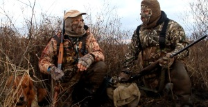 Here I am on my first duck hunt with Jim Low (L) and his retriever Willa