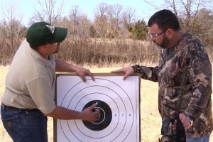 Kyle Lairmore goes over my pattern as we prepare for this spring's turkey hunt.