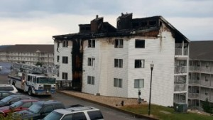 The fire that killed four children occurred in the Compass Pointe condos at the Lake of the Ozarks. (picture courtesy; KSSZ)