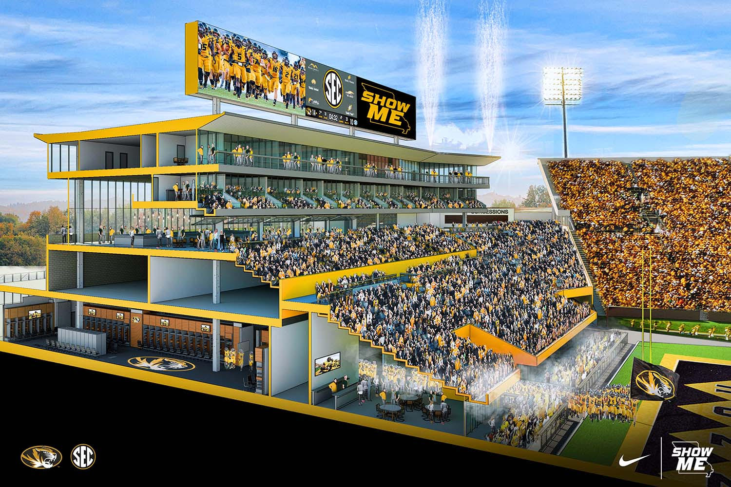 mizzou releases updated south end zone plans