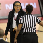 Mizzou settles lawsuit with Carolina coach Dawn Staley for remarks made by Jim Sterk.